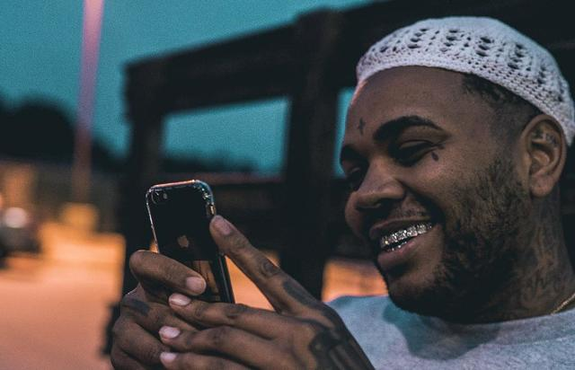 KEvin Gates on cell phone