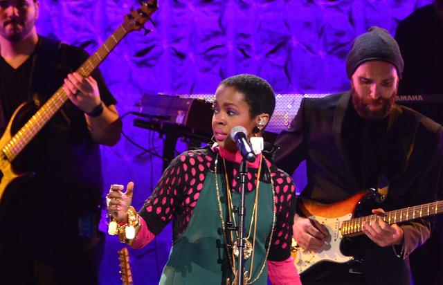 Lauryn Hill performing at Black Girls Rock event