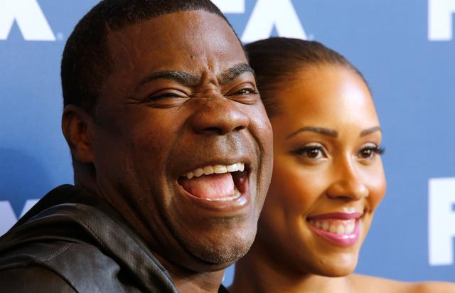 Actor/comedian Tracy Morgan and Megan Morgan attend the FX Networks Upfront Screening Of 'The People v. O.J. Simpson: American Crime Story' at AMC Empire 25 theater on March 30, 2016 in New York City.