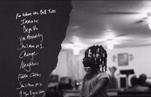 """tracklist for """"4 Your Eyez Only"""""""