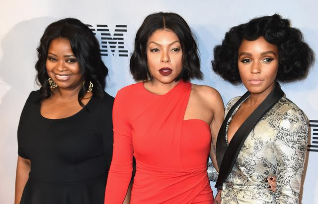 Octavia Spencer, Taraji P. Henson and Janelle Monae attends the 'Hidden Figures' New York Special Screening on December 10, 2016 in New York City.