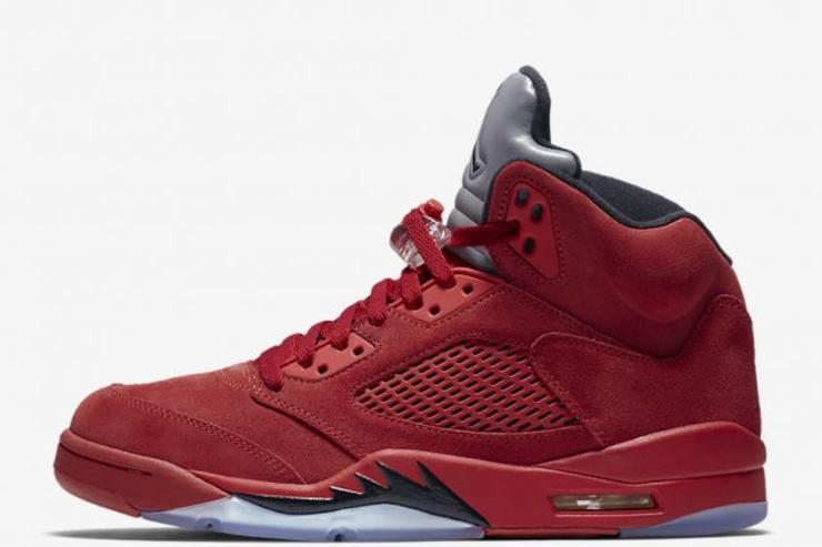 """""""Red Suede"""" Air Jordan 5s Scheduled To Release This Week"""