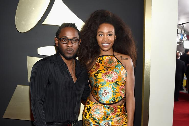 Kendrick Lamar and SZA at the Grammys 2016