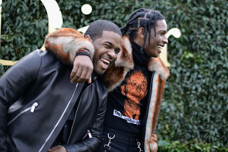 ASAP Ferg and ASAP Rocky attends the Christian Dior Haute Couture Spring Summer 2017 show as part of Paris Fashion Week at Musee Rodin on January 23, 2017 in Paris, France.