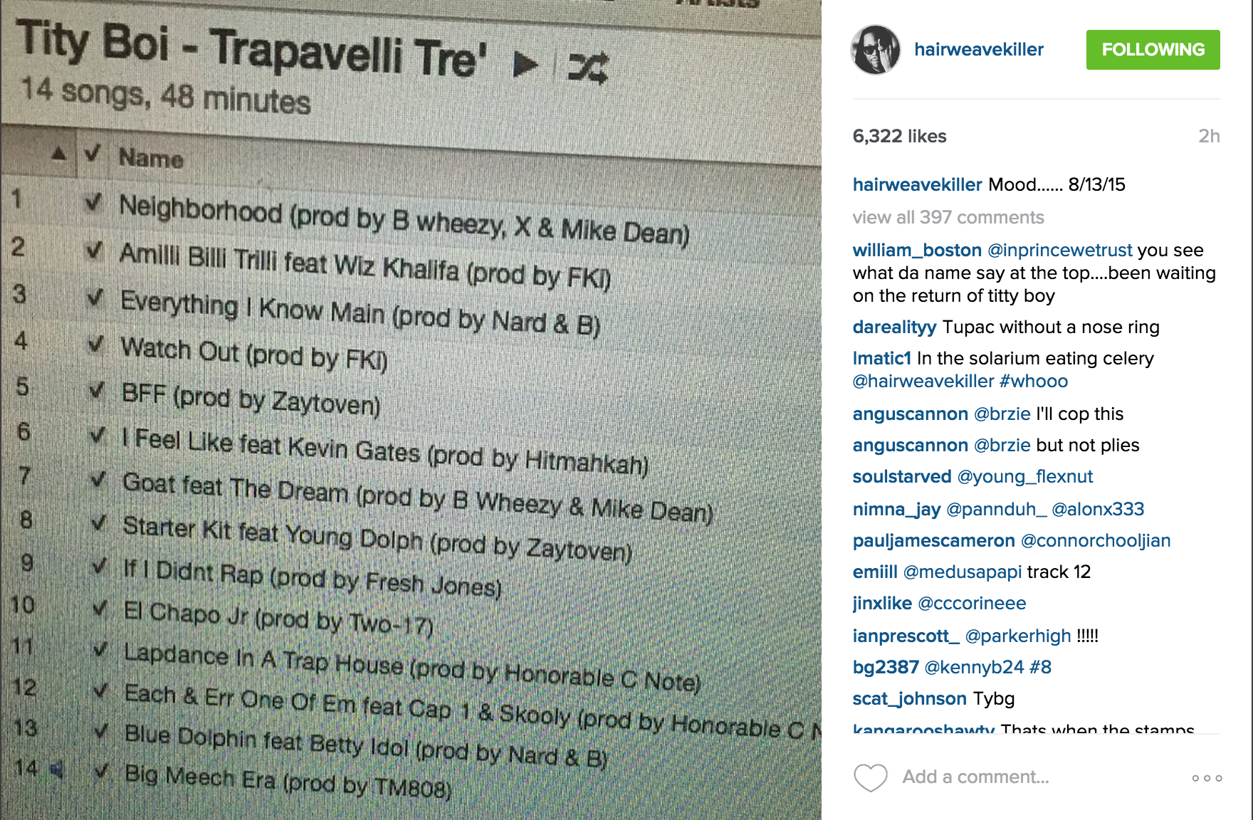 2 chainz reveals trapavelli tre tracklist for House music tracklist