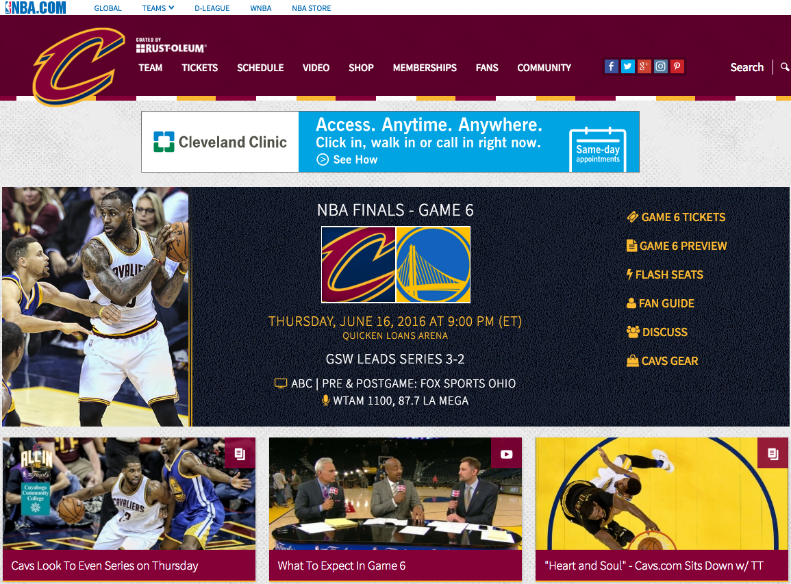 Someone Changed CryingJordan.Com To Redirect You To The Cleveland ...