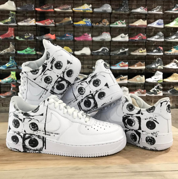 pretty nice ee66c 73412 Supreme x Comme des Garcons x Nike Air Force 1 Low To ...