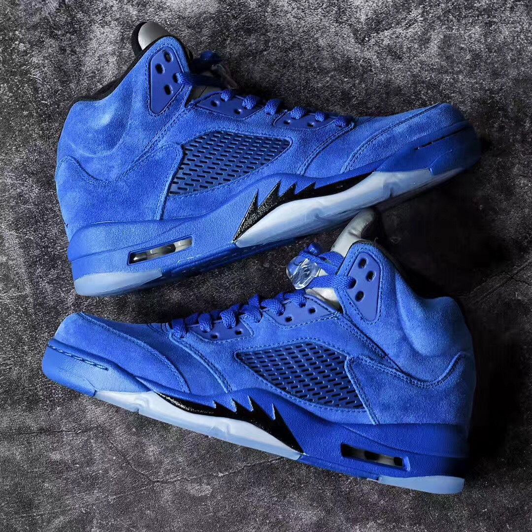 43969e5fe04 Take a closer look in the gallery above and be on the lookout for release  information in the near future. Sneakers Lifestyle air jordan 5 Blue Suede  ...
