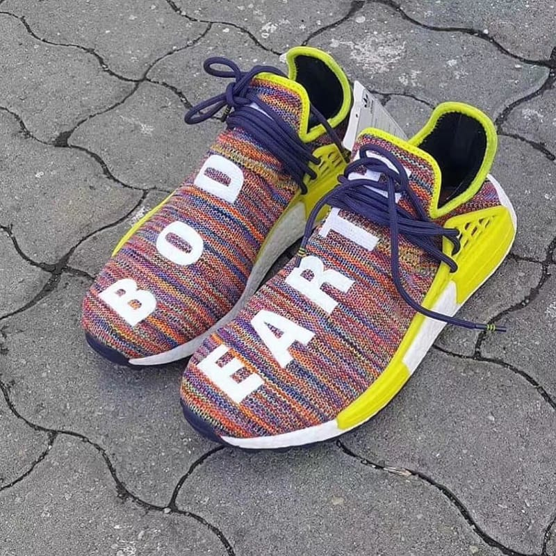 Kyle's Sneakers UA NMD PW Human Race Yellow Black Unboxing